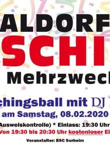 Faschingsball in der Mehrzweckhalle Saaldorf